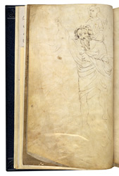 Drawing Of St. Christopher, Added To A Flyleaf Of 'The Abingdon Apocalypse'